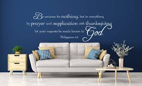 Vinyl Wall Art Decal Philippians 4 6 Be Anxious For Etsy