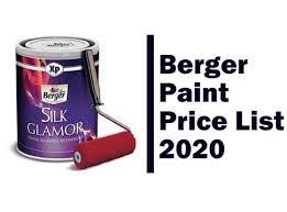 berger paint list 2020 updated