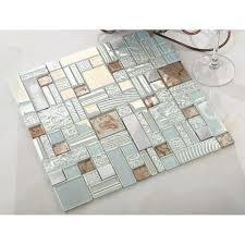 cream crystal glass mosaic tile 304
