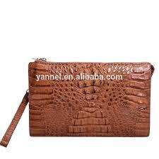 exotic leather zipper clutch bag