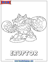 fire series2 eruptor coloring page