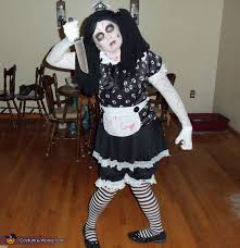 makeup dead doll doing the