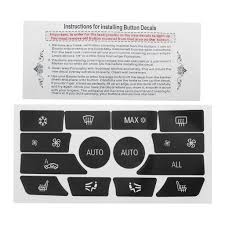 Dash Climate Control Panel Button Repair Decal Kit 61319290739 For Bmw 5 Series Buy At A Low Prices On Joom E Commerce Platform