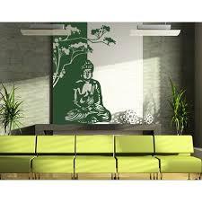 Buddha Zen Meditation Wall Decal Wall Sticker Vinyl Wall Art Home Decor Wall Mural 2530 39in X 65in Golden Yellow Walmart Com