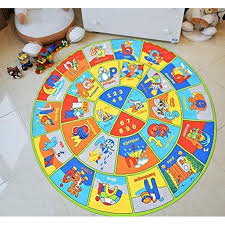 Kids Rugs For Playroom Bedroom 8x8 Boys Girls Children S Room Decor Fun Abc Alphabet Interactive Gift For Kids Boys Girls Educational Learning Mat Rug Carpet For Nursery Decor School Playroom Walmart Com