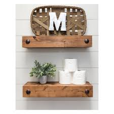 farmhouse floating shelf with clavos 24