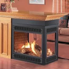three sided gas fireplace