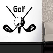 Amazon Com Golf Golf Club Ball Stick Wall Decal Window Sticker Vinyl Sticker Handmade 2278 Handmade
