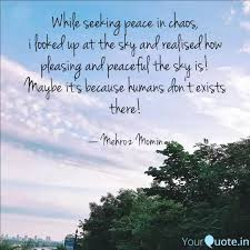 while seeking peace in ch quotes writings by mehroz momin