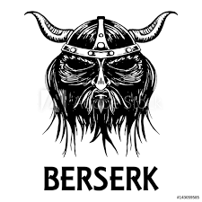 Berserk Or Berserker Warrior Head Vector Icon Sticker Wall Decals Sonulkaster
