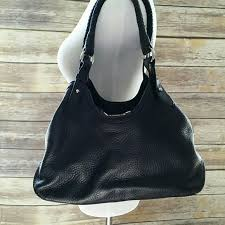 cole haan bags black pebbled leather