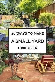 small yard look bigger