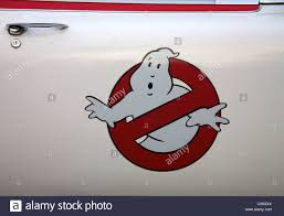 Universal Studios Ghost Busters Emblem On The Door Of The Stock Photo Alamy