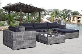 6pc rattan garden furniture sofa set