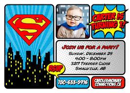 Invite Superman Carter 2 Jpg 2100 1500 Superman Birthday