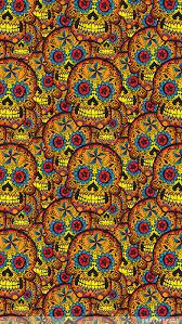 tattoo art skull iphone wallpaper