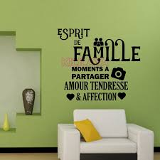 Aliexpress Com Buy Vinyl Walls Sticker French Family Spirit House Decoration Wall Stickers For L Wall Stickers Living Room Wall Decor Stickers Decal Wall Art