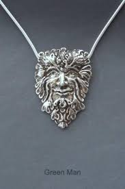 sterling silver green man necklace