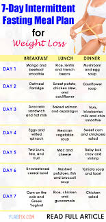 7 day intermittent fasting meal plan