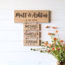 Personalized Family Name Reclaimed Wood Sign Love Built Shop