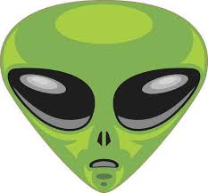 5in X 5in Green Alien Bumper Sticker Vinyl Truck Window Decal Sign Decals Walmart Com Walmart Com