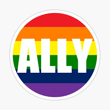 Lgbt Ally Sticker By Auxilary Redbubble