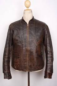 vintage 1930s horsehide leather half