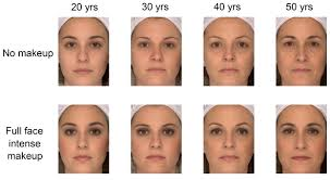 makeup makes older faces look younger