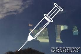 Syringe Needle Shot Medical Equipment Decal