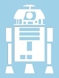Star Wars R2d2 White Vinyl Car Decal Art Wall Sticker Car Usa 6 Swift On Star Wars