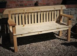 garden bench seat with wide arms