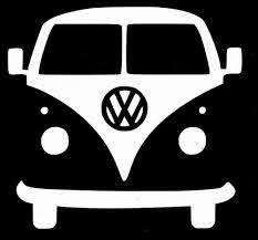 Volkswagen Vw Bus Camper White Decal Sticker Vw Bus Camper Vinyl Decal Stickers Vw Bus
