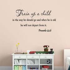 Vwaq Train Up A Child In The Way He Should Go Nursery Bible Wall Decal Reviews Wayfair