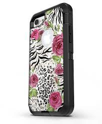 Animal Vibe Floral Iphone 7 Or 7 Plus Otterbox Defender Case Skin De Designskinz