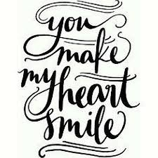 Handmade You Make My Heart Smile Vinyl Design 9x9 Wall Art Sticker Decal Home Decor Door