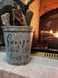 personalized firewood bucket home is