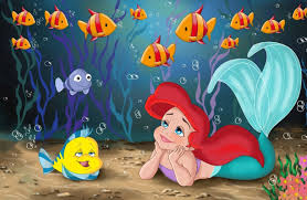 little mermaid wallpaper free