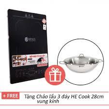 Bếp điện từ cao cấp Elmich ICE-7146 tặng chảo lẩu 3 đáy HE Cook 28cm -  1,659,000