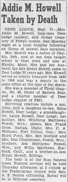 Obituary for Addie M. Howell - Newspapers.com