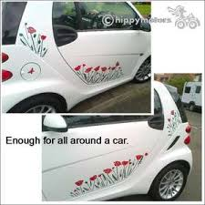 Poppy Flowers Stems And Leaves High Quality Vinyl Stickers