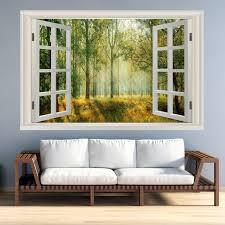 Vwaq Landscape Wall Decals Window Nature Scene Vinyl Mural For Wall Nwt4 22 H X 33 W Walmart Com Walmart Com