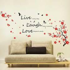 Shop Walplus Wall Sticker Blossom Vivid Live Laugh Love Quote Home Decor Overstock 32007199