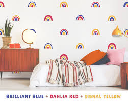 Three Color Rainbow Wall Decal Set Project Nursery
