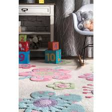 Nuloom Floral Nursery Playmat Off White 5 Ft X 7 Ft Area Rug Mtir04a 507 The Home Depot