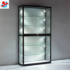 various glass display cabinet on