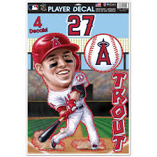Los Angeles Angels Mike Trout Wincraft 11 X 17 Multi Use Player Decal Sheet
