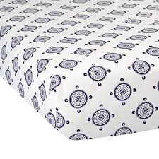 Buy Lambs & Ivy Classic Collection Fitted Crib Sheet, Medallion,  Blue/Gray/White, Features, Price, Reviews Online in India - Justdial