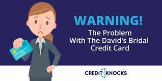 warning david s bridal credit card