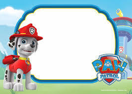 Free Printable Paw Patrol Invitation Templates Lookout Version