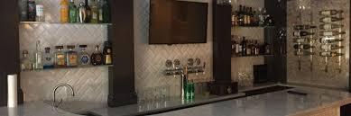 custom glass bar shelves and
